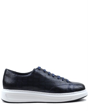 BUFFALO CASUAL SMART SNEAKERS BLACK NEW FASHİON LACİVERT